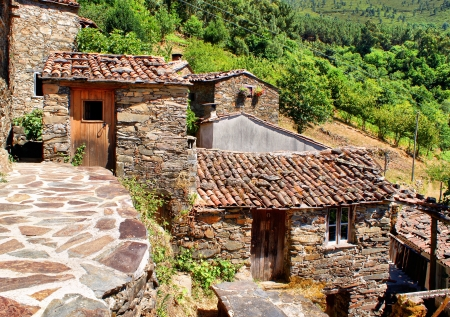 Small typical mountain village of schist in Lousa, Portugal Stock Photo - 14076065