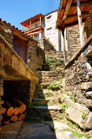 Small typical mountain village of schist in Lousa, Portugal Stock Photo - 14076027
