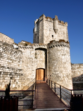 Coria castle in Extremadura, Spain Editorial