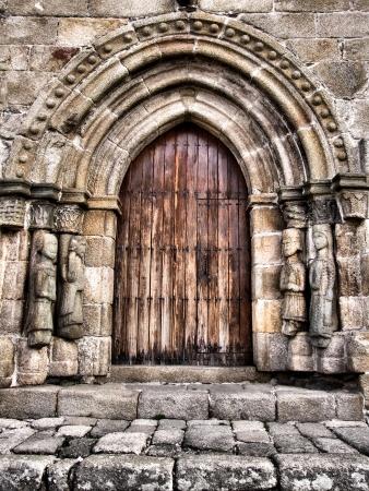 Door of Santa Maria del Azogue church in Puebla de Sanabria (Spain)