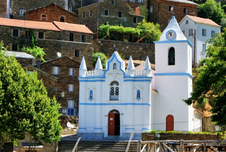 Church of the Portuguese mountain village of Piodao photo