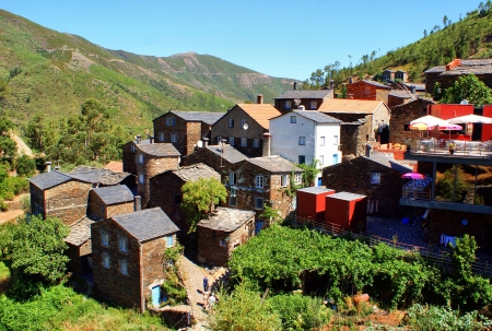 View of the Portuguese mountain village of Piodao photo
