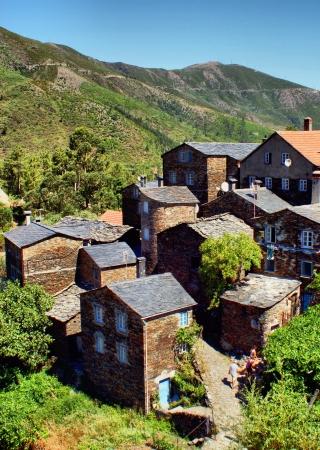 View of the Portuguese mountain village of Piodao Stock Photo - 14247045