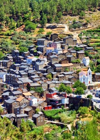 View of the Portuguese mountain village of Piodao Stock Photo - 14288397