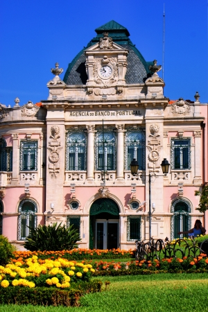 hist: Buildings in Coimbra, Portugal