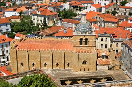 cityscape over the roofs of Coimbra with cathedral Se Velha, Portugal  Stock Photo - 14740268