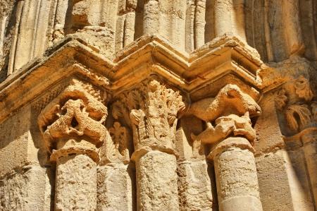 Entrance capitals of Santa Clara Velha in Coimbra, Portugal Stock Photo - 14748774