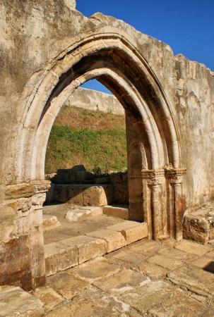 Cloister ruins of Santa Clara Velha in Coimbra Stock Photo - 14874294