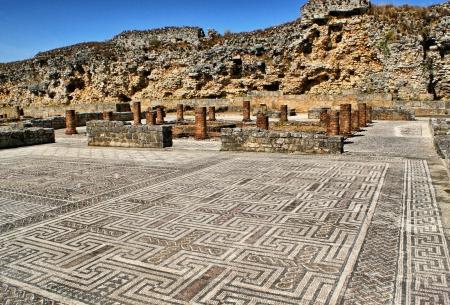 Mosaic in the Roman ruins of Conimbriga Stock Photo - 15067027