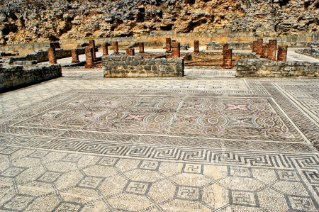 Mosaic in the Roman ruins of Conimbriga Stock Photo - 15067030