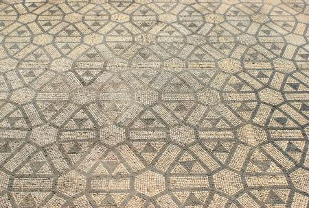 Mosaic in the Roman ruins of Conimbriga Stock Photo - 15067033