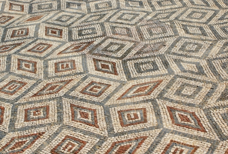 Mosaic in the Roman ruins of Conimbriga photo