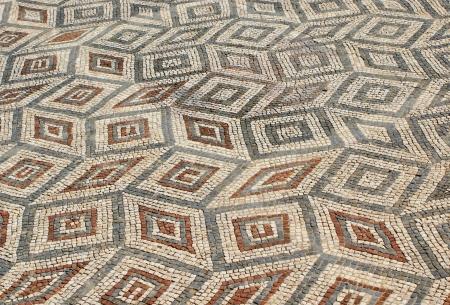 Mosaic in the Roman ruins of Conimbriga Stock Photo - 15067025