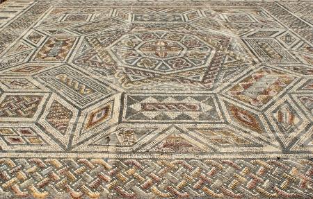 figurative: Mosaic in the Roman ruins of Conimbriga Stock Photo