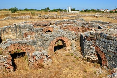 Roman baths ruins of Conimbriga in Portugal Stock Photo - 15305037
