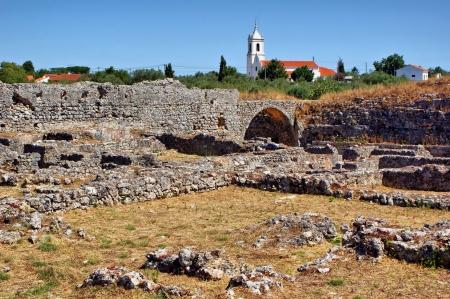 Roman ruins of Conimbriga in Portugal Stock Photo - 15305035