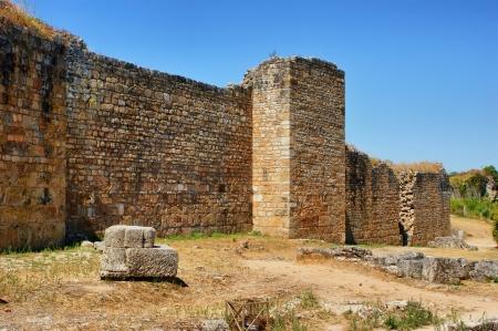 Great wall of Conimbriga, Portugal Stock Photo - 15418844