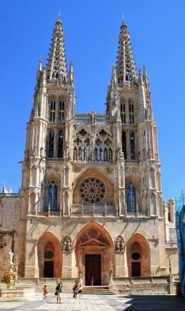 santa maria: Facade of Santa Maria Cathedral of Burgos, Spain