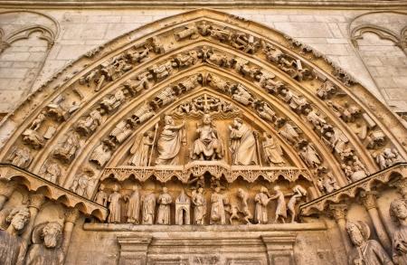 The Coroneria Coronation Door north wall transept Burgos Cathedral Stock Photo - 16171500