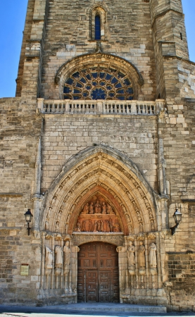 Old Door of Burgos Cathedral, Spain Stock Photo - 16171498