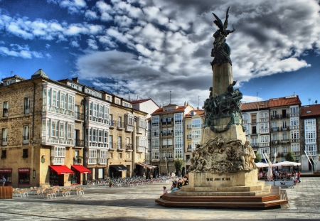 vitoria: Virgen Blanca square in Vitoria-Gasteiz, Spain