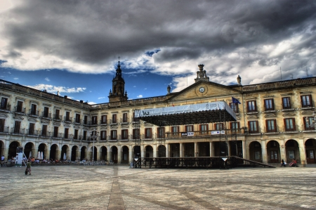 alava: City council in the New square, Vitoria, Alava, Basque Country, Spain Editorial