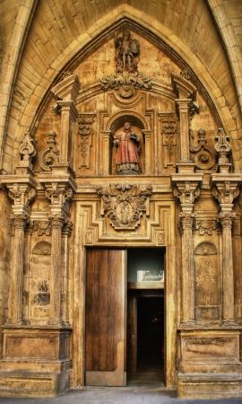 Door of Saint Vicent church in San Sebastian, Spain Stock Photo - 16649956