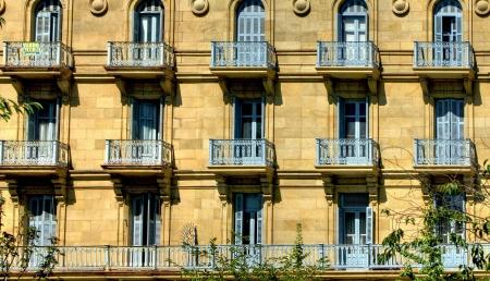 san sebastian: Building detail of San Sebastian, Spain