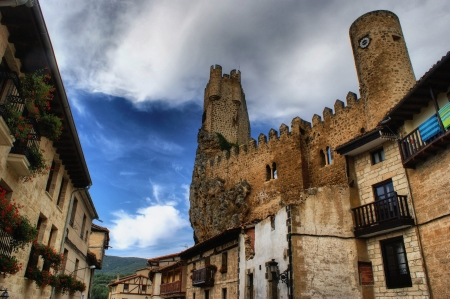 Castle of the city of Frias in Spain Stock Photo - 17044965