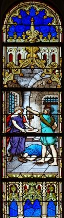 Stained Glass Matriz church of Vila do Conde, Portugal Stock Photo - 17985712