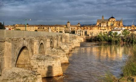 Roman bridge of Cordoba in Spain Stock Photo