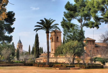 Alhambra Palace   Gardens in Grenade, Spain Stock Photo - 19651862