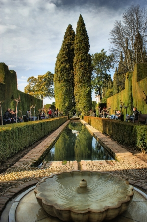 Alhambra Palace   Gardens in Grenade, Spain Stock Photo - 19651867