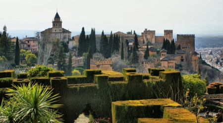 Alhambra Palace   Gardens in Grenade, Spain Stock Photo - 19651864