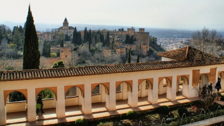 Alhambra Palace   Gardens in Grenade, Spain Stock Photo - 19660759