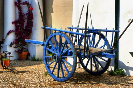 Vintage wooden cart in Alentejo, Portugal photo