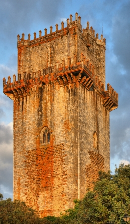Ancient castle tower in Beja, Portugal