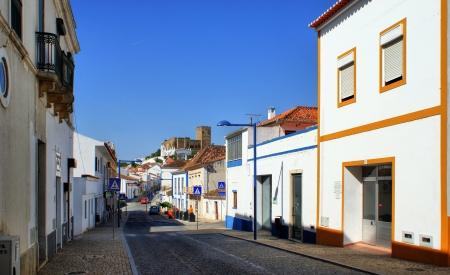 Street of Mertola village, Portugal photo