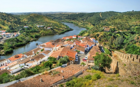 Landscape of Mertola, south of Portugal