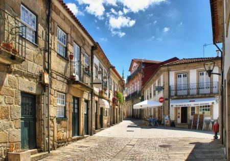 tenement: Old street in Vila Nova de Cerveira, Portugal