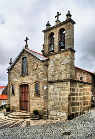 Old rural church of Folgosinho, Portugal