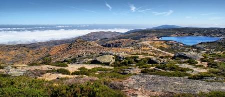 Sea fog in Serra da Estrela, Portugal