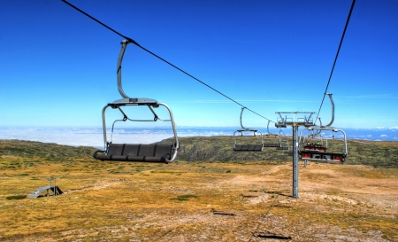 Cable car in Serra da Estrela, Portugal