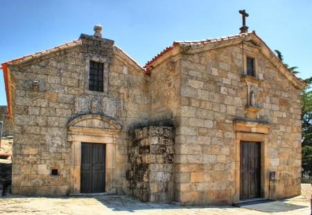 belmonte: Romanesque church of Santiago in Belmonte, Portugal Stock Photo