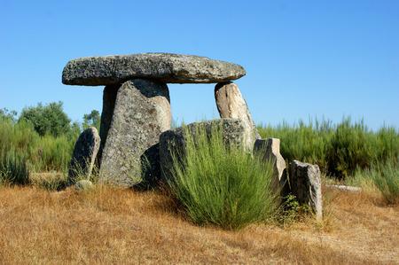 Dolmen Pedra da Orca em Gouveia, Portugal Stock Photo
