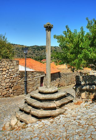Marialva pillory in Meda, Portugal Stock Photo - 27685771