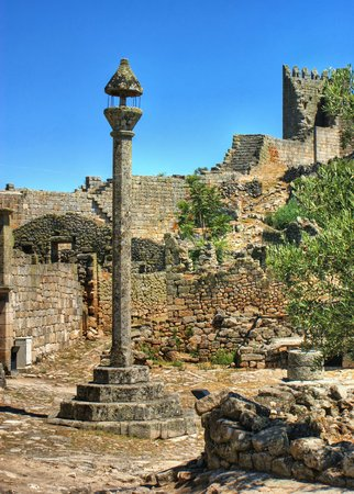 Marialva ruins and pillory in Meda, Portugal photo