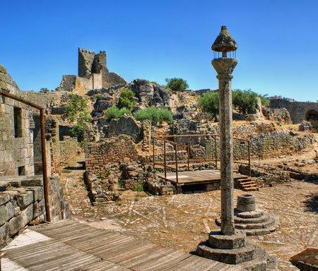 Marialva ruins and pillory in Meda, Portugal