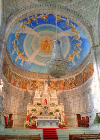Inside Santa Luzia church in Viana do Castelo