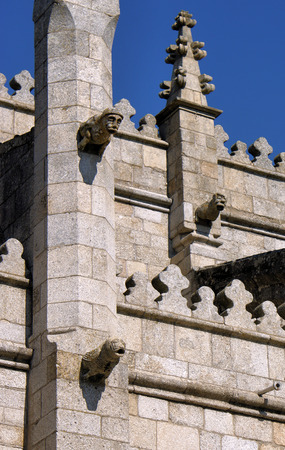 Old cathedral in Guarda, Portugal (detail) Stock Photo - 33629058